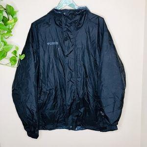 Columbia Black Full Zip Up Windbreaker Jacket